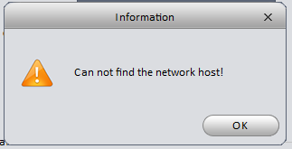 Can't fine Network Host